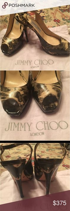 NWOT JIMMY CHOO eeptoe Slingback Platform Pumps AWESOME Huh???? Enough said Jimmy Choo Shoes Heels