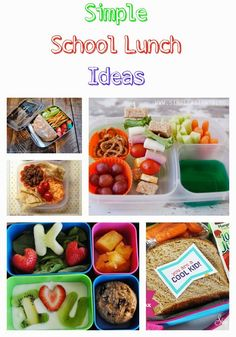 5 Simple School Lunch Ideas #schoollunch #backtoschool #back2school #lunch #kidsmeals