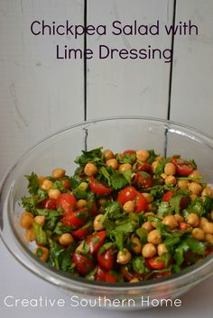 Chickpea Salad with Lime Dressing - Creative Southern Home