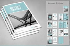 Ad: Corporate Brochure PSD by TypoEdition on Corporate Brochure. Modern and clean design for brochure template. Perfect for PR agency or other business promotion. All elements are Design Brochure, Corporate Brochure, Business Brochure, Business Card Logo, Brochure Template, Brochure Layout, Business Proposal, Company Brochure, Creative Brochure