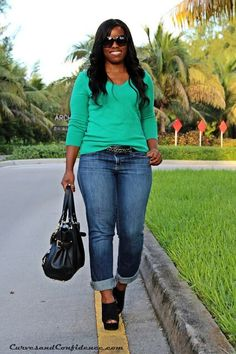 Jeans and green