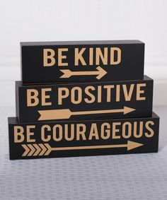 Look at this 'Be Positive' Block Sign Set on #zulily today!