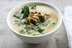 Roasted Rutabaga and Parsnip Soup with Kale and Coconut Bacon | Choosing Raw – vegan and raw recipes