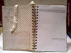 Buchkalender / Timeplaner Shabby, Vintage, Crafting, Vintage Comics