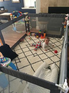 The ultimate playpen / play yard/ baby gate / living room baby hangout safe zone!