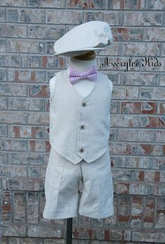 The Avery Boys Linen Suit, Boys Natural Linen Suit, Boys Formal Wear, Ring Bearer Outfit, Beach Wedding Outfit, Page Boy Outfit, Baptism