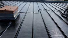 Liquid Rubber Coating Red Deer Alberta To Industrial Metal Roof. The article is the reports from the field as the liquid rubber coating is being applied. Red Deer Alberta, Bragg Creek, Roofing Supplies, Roof Coating, Industrial Metal, Roof Repair, Metal Roof, Calgary