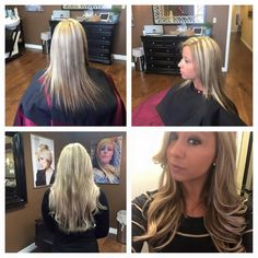 Before and after of Hotheads Hair Extensions! #2015hair #patricscolorroom #hairextensionsdenver #denverhairsalons #tophairstylist #denversalon #denverhairextensions