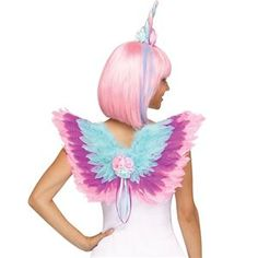 Unicorn Mini Feather Wings H… godmother dress dress … Godmother Dress, Fairy Godmother, Unicorn Costume, Unicorn Party, Unicorn Birthday, Easy Costumes, Halloween Costumes, Costume Ideas, Unicorn Wings