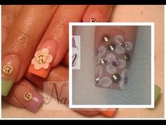 como hacer flores 3d en uñas acrilicas paso a paso - tutorial how to make nail art 3d flowers