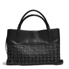 Not sure about this Grommets Soft Borough Bag In Pebbled Leather from Coach; it is an interesting style and large enough to carry everything to work but would this style hold up over time to justify the price??