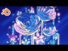 (17) Creating Glowing Moonflowers - Blender & Grease Pencil Animation - YouTube Blender Models, Blender 3d, Anime Flower, Blender Tutorial, 3d Tutorial, Grease, 3d Design, Unity, Glow