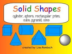 Solid Shapes (3d) Math SmartBoard Lesson Primary Grades (.notebook file) $