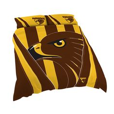 Australia's largest range of Hawthorn Hawks AFL Licensed Quilt Duvet Doona Bedding Cover Sets. Lions Team, Cover Style, Duvet Bedding, Quilt Cover Sets, Polar Fleece, Bed Covers, Quilts, Pillows, Hawks
