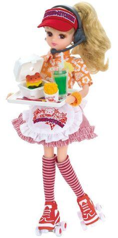 NEW Japan Takara Tomy Licca-chan Hamburger Kitchen Dress Set Doll Barbie #TAKARATOMY