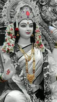 New Beautiful Latest Mata Ji Navratri Wallpaper And Wishes Collection By WaoFam. Lord Durga, Durga Ji, Saraswati Goddess, Goddess Art, Lord Ganesha, Shiva Parvati Images, Durga Images, Shiva Shakti, Maa Durga Photo