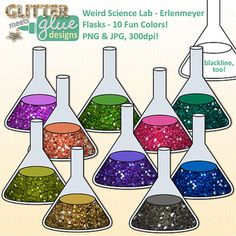 Weird Science Chemistry Lab - Erlenmeyer Flasks! $