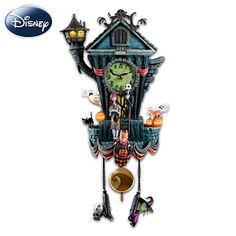 The Nightmare Before Christmas Cuckoo Clock- Tim Shumate sculpted this awesome working clock! I LOVE this artist!!!!! ♥♥♥