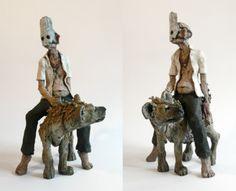 Hyène montée