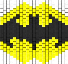 Batman Mask Bead Pattern | Peyote Bead Patterns | Characters Bead Patterns