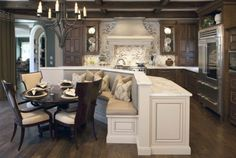 Kitchen Islands with Seating | ... seating corinne gail interior design island banquette seating