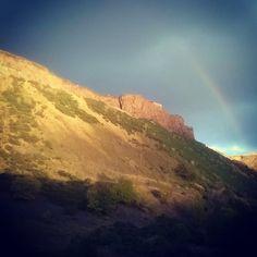 Cheeky rainbow at Arthurs seat! -ChrisL #rainbow #Arthursseat #Edinburgh