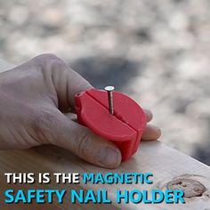 Magnetic Safety Nail Holder Now you can have a protection tool that lends a hand to make hammering easier & safer with the all-