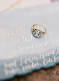 Modern Vintage Engagement Ring // Photography ~ Rebecca Yale Photography