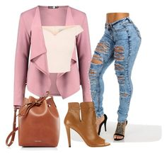 """Street rose"" by sustinoco on Polyvore featuring Boohoo, Mansur Gavriel and Jimmy Choo"