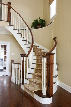 Staircase Photos Stained Trim Work Design, Pictures, Remodel, Decor and Ideas - page 11