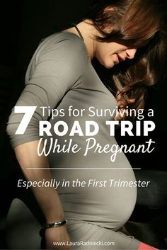 Lots of people deal with motion sickness especially during car trips. But when you throw in pregnancy, and especially the first trimester, a road trip can be especially daunting. This post includes 7 tips for preparing for and surviving a road trip during Early Pregnancy Signs, First Pregnancy, Pregnancy Tips, Pregnancy Travel, Happy Pregnancy, Pregnancy Style, Pregnancy Fashion, Pregnancy Health, Pregnancy Outfits