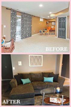 Keller vor / nach - My Personal Home Renos - Home Design, Interior Design, Epoxy Floor Basement, Los Angeles Homes, Home Reno, Behr, Design Process, Kitchen Remodel, New Homes