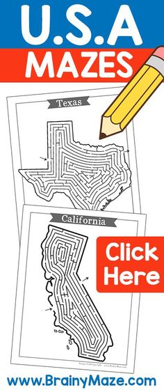USA State by State Mazes!  Fun, Challenging Mazes for Every State.  These will go perfect with US History or Social Studies Curriculum! via @CraftyClassroom