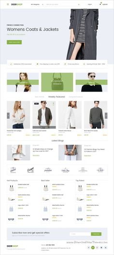 DeerShop is a multipurpose #PSD #template for stunning #eCommerce websites with 8 unique homepage layouts and 40+ organized PSD pages download now➩ https://themeforest.net/item/deershop-multipurpose-responsive-ecommerce-psd-template/19237031?ref=Datasata