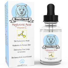 Barefaced Skincare groß 60ml Hyaluronsäure Serum - Anti-Aging Gesichtsserum Behandlung für alle Hauttypen