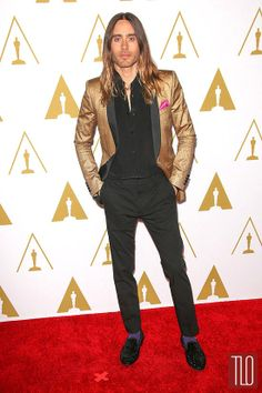 Don't laugh. I kind of love this.   Jared Leto in Saint Laurent at the 2014 Oscars Nominees Luncheon | Tom & Lorenzo Fabulous & Opinionated