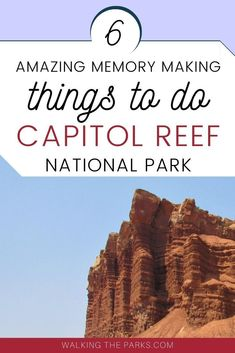 Looking for ideas of memory making things to do in Capitol Reef National Park? Here's 6 things you must put on your Capitol Reef Itinerary for your amazing Utah vacation! #WalkingTheParks #CapitolReefItinerary Capitol Reef National Park, National Parks, Utah Vacation, Best Vacations, First Time, Stuff To Do, Things To Do, Bucket, Walking