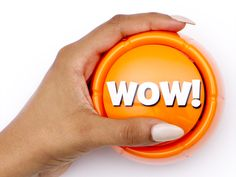 Wow your friends today with a Wow button, available now at http://Awesomebuttons.com/the-wow-button-pressing-this-button-is-a-blast-brighten-up-your-desk-space You'll love these desk toys!