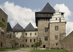 The Lipnice nad Sázavou Castle, founded in the early part of the century, was one of the mightiest of the Czech castles. 14th Century, Czech Republic, Prague, Cathedral, England, Europe, Mansions, Manor Houses, House Styles