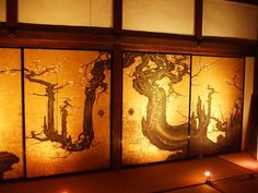 "Wow, breath taking. wall/FUSUMA door.    ""a fusuma; a thick papered sliding door for partitioning rooms in a Japanese house"""