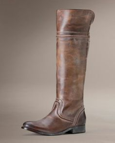 This really good-looking boot is a Frye Women's Melissa Trapunto Tall Boot - Cognac.