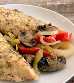 There's nothing ordinary about this baked chicken recipe. Italian seasonings and a smidge of Dijon mustard make a delicious marinade that's easy to prepare a day ahead.