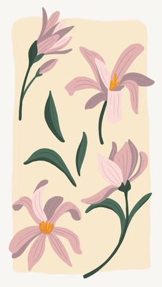 Photography and custom graphic design work available. Vintage Flowers Wallpaper, Cute Patterns Wallpaper, Flower Wallpaper, Illustration Inspiration, Plant Illustration, Flower Pattern Design, Flower Patterns, May Flowers, Silk Flowers