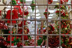 christmas trees in stores   Christmas store front - Old Towne Alexandria - by cliff1066