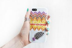 Free People DIY Embroidered iPhone Case