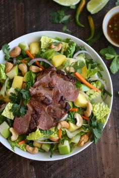 Thai Crispy Duck Salad recipe from Cooking with Cocktail Rings | #salad #duck #thai