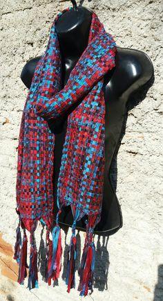 Handweaving ribbon scarf. By  Pancho Pinsag.
