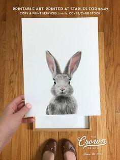 Bunny butt Rabbit print Easter decor PRINTABLE art Nursery