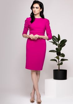 Caroline Kilkenny, Cerise Pink, Pencil Dress, Wedding, Dresses, Style, Fashion, Valentines Day Weddings, Vestidos