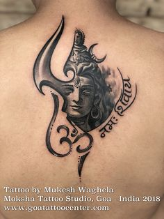 Shiva Tattoo by Mukesh Waghele at MOKSHA TATTOO STUDIO , (Goa,India) In Hinduism, the river Ganges is considered sacred as is personified as the goddess Ganga. She is worshiped by .